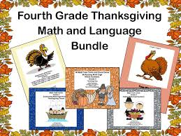 fourth grade thanksgiving math and language bundle by mccormick33