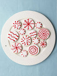 in and white sugar cookies peppermint and frostings