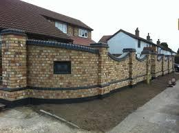 new brick garden wall u0026 landscaping mr v stotfold bedfordshire