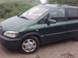 2001 vauxhall zafira 1 6 16v green 7 seater people carrier van