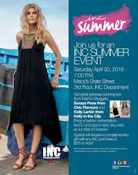 inc summer event with macy u0027s chic flavourschic flavours