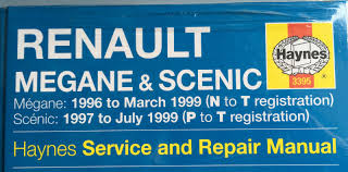 renault megane u0026 scenic 1996 99 haynes service and repair manual