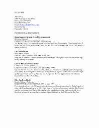 private chef resume sample inspirational cook resume objective