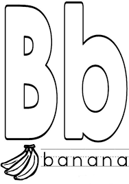 alphabet coloring pages b for banana alphabet coloring pages of