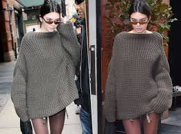 jenner sweater kendall jenner wears maxi sweater without