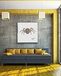 hummingbird wall art gogimogi jumping spider wall art