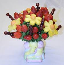 fruit flower bouquets how to make an edible fruit bouquet