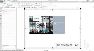siemens nx 10 0 creating drawing templates youtube