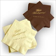 chocolate and ivory thanksgiving cocktail napkin set
