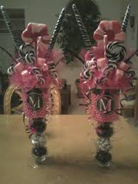 candy centerpiece ideas sweet 16 candy centerpieces detalles y