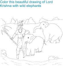 shri krishna janmashtami coloring 6 kids