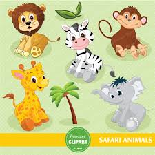 safari animals digital clipart jungle clip art baby shower