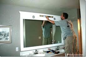 How To Frame A Bathroom Mirror Large Framed Bathroom Mirror Mirror Design