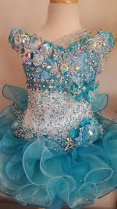 glitz pageant dresses beautiful caribbean blue two toned mega glitz pageant dress make