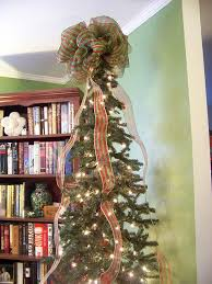 How To Decorate A Christmas Tree With Ribbon Garland Christmas Tree Decorations With Mesh Ribbons U2013 Happy Holidays