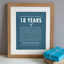 personalised 18th birthday print by elephant grey