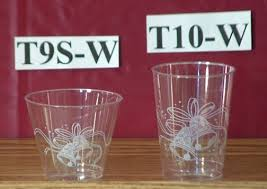 clear plastic cups for wedding clear plastic wedding print cups and carry paper co