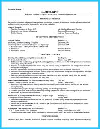 Elementary Education Resume Sample by 100 Resume Sample For Teacher Assistant Respiratory