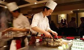 restaurant japonais cuisine devant vous le comptoir nippon restaurant japonais de teppanyaki à