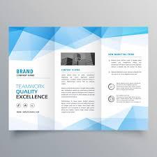 free tri fold business brochure templates polygonal blue trifold business brochure template vector free