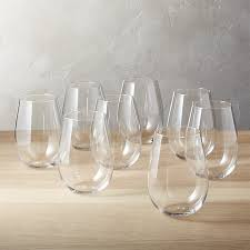 wine glasses set of 8 true stemless wine glasses in drinkware reviews cb2