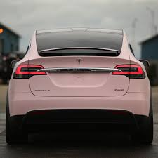 matte pink car this tesla model x owner really loves the color u0027pink u0027