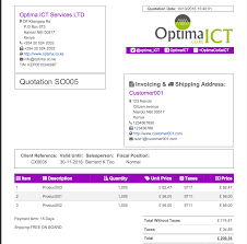 quotation mail format to customer professional report templates odoo apps