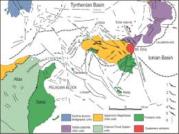 Mediterranean Sea World Map by Geological Map Of Etna Volcano 1 50 000 Scale Italian Journal