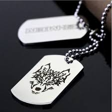 mens personalized dog tags bahamut men women jewelry custom dog tag pendant necklaces