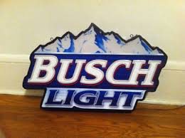 busch light neon sign neon busch light beer sign antique price guide details page