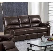 evelyn leather gel reclining sofa dark brown walmart com