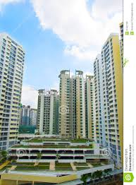 singapore government apartments royalty free stock photo image