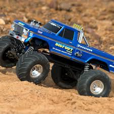 bigfoot the monster truck videos 1 10 bigfoot classic 2wd monster truck brushed rtr blue