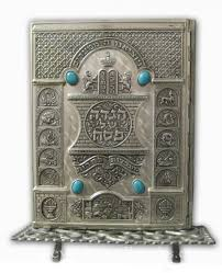 arthur szyk haggadah szyk haggadah with beautiful silver plate cover and pewter stand