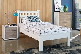 aston king single bed frame by nero furniture harvey norman new