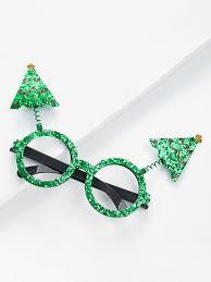 tree sequin glasses frame