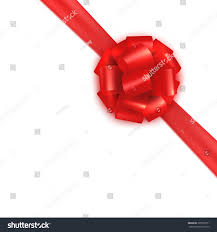 red realistic gift wrapping silksatin bow stock vector 399592771