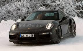porsche 911 winter porsche 911 coupe turbo spied winter testing autoguide com