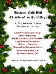 christmas in the village u2013 historic gold hill