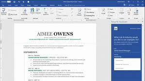 Resume Pro Microsoft Adds Linkedin Resume Assistant To Office 365 It Pro