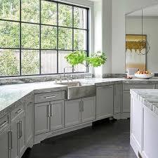stainless steel apron sink light gray kitchen cabinets with hammered stainless steel apron sink