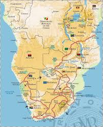 Burundi Africa Map by Southern Africa Route Maps Rovos Rail