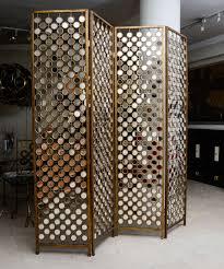 metal room divider mirrored and metal divider screen at 1stdibs