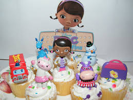 doc mcstuffins cupcake toppers disney doc mcstuffins figure deluxe cake toppers