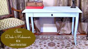 painting a desk white mark montano restyles an ikea desk with chalky finish paint youtube