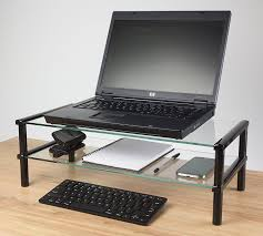 Desk Accessories Uk by Kit Glass Desktop Table Double Shelf Stand Compatible With