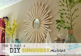 Home Made Wall Decor Diy Sunburst Mirror 4 Wall Art