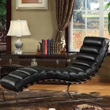 furniture living room black leather chaise lounge chairs with rug