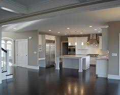 White Kitchen Cabinets With Dark Floors Love This Dark Floors Gray Walls White Cabinets U0026 Trim
