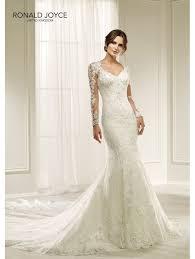 fitted wedding dresses ronald joyce 69217 hilaria beautiful lace slim fitting wedding dress